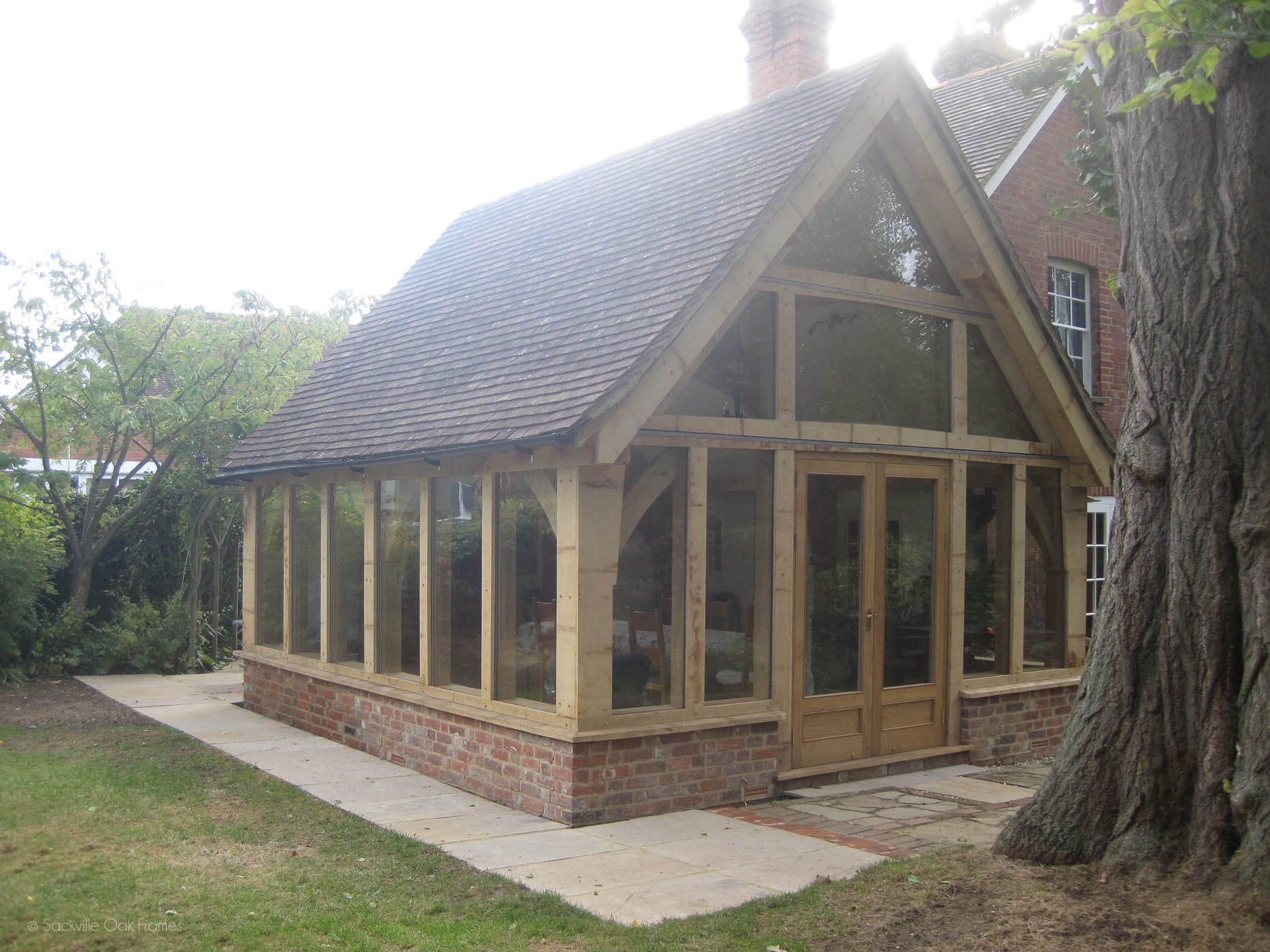 Sackville Oak Frames - Oak Framed Extension - Listed Property - Oak - Extension
