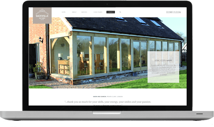 Sackville Oak Frames New Look Website