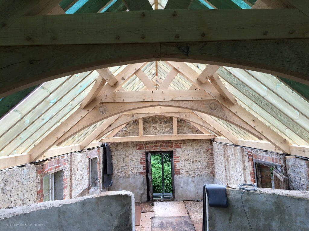 Sackville Oak Frames - Oak Framed Roof - Restoration Project - Building With Glass
