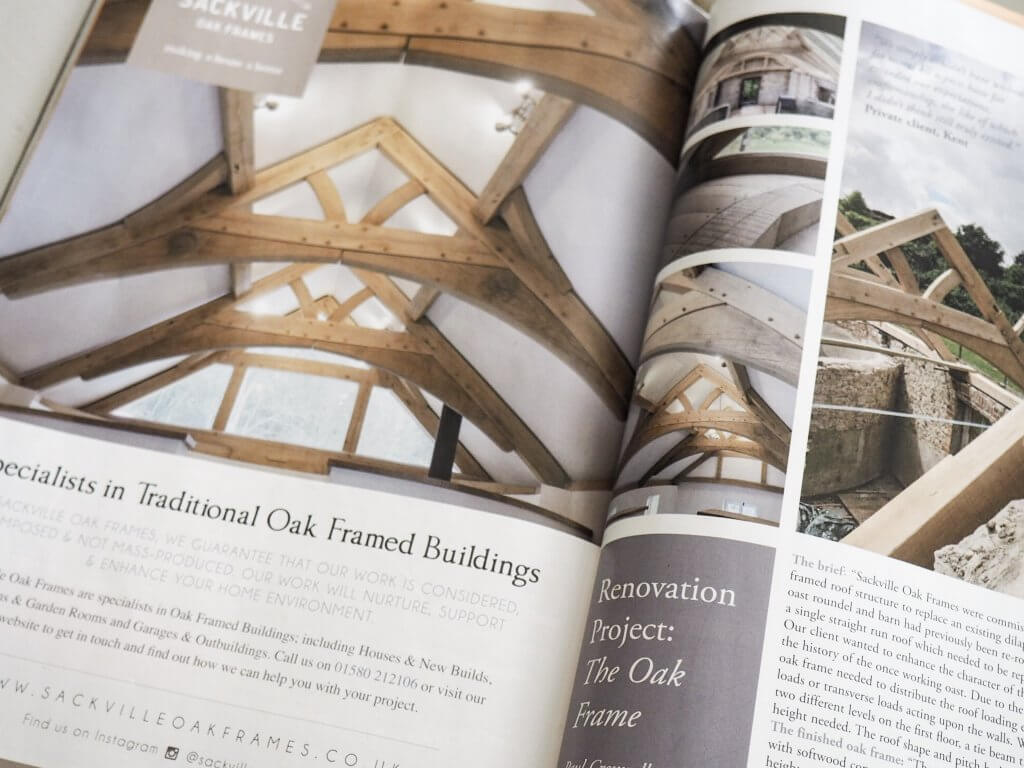 Oak Frame & Building with Glass - Restoration and New Build Supplement Wealden Times - Kent, Surrey & Sussex